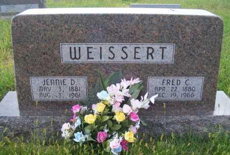 WEISSERT, JENNIE D. - Frontier County, Nebraska | JENNIE D. WEISSERT - Nebraska Gravestone Photos