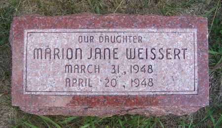 WEISSERT, MARION JANE - Frontier County, Nebraska | MARION JANE WEISSERT - Nebraska Gravestone Photos