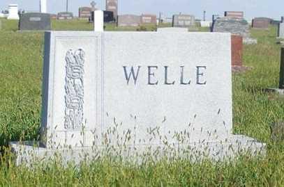 WELLE, FAMILY - Frontier County, Nebraska | FAMILY WELLE - Nebraska Gravestone Photos