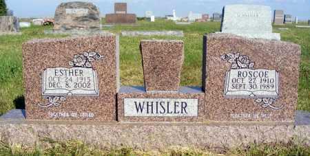WHISLER, ESTHER - Frontier County, Nebraska | ESTHER WHISLER - Nebraska Gravestone Photos
