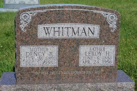 WHITMAN, DENCY B. - Frontier County, Nebraska | DENCY B. WHITMAN - Nebraska Gravestone Photos