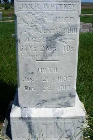 WHITNEY, RUTH - Frontier County, Nebraska | RUTH WHITNEY - Nebraska Gravestone Photos