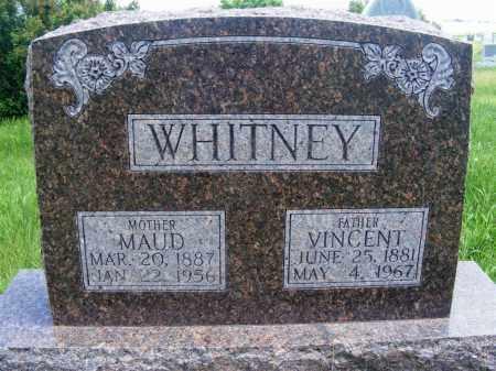 WHITNEY, VINCENT - Frontier County, Nebraska | VINCENT WHITNEY - Nebraska Gravestone Photos