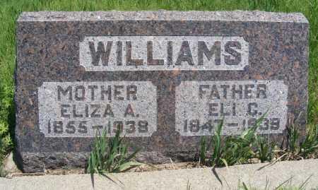 WILLIAMS, ELI C. - Frontier County, Nebraska   ELI C. WILLIAMS - Nebraska Gravestone Photos