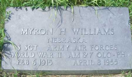 WILLIAMS, MYRON H. - Frontier County, Nebraska | MYRON H. WILLIAMS - Nebraska Gravestone Photos