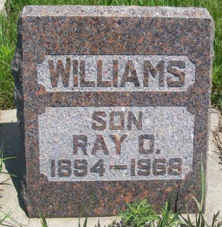 WILLIAMS, RAY O. - Frontier County, Nebraska | RAY O. WILLIAMS - Nebraska Gravestone Photos