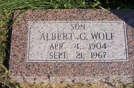 WOLF, ALBERT G. - Frontier County, Nebraska | ALBERT G. WOLF - Nebraska Gravestone Photos