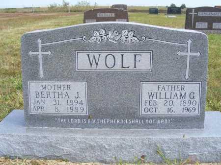 WOLF, WILLIAM G. - Frontier County, Nebraska | WILLIAM G. WOLF - Nebraska Gravestone Photos