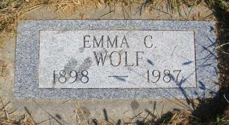 WOLF, EMMA C. - Frontier County, Nebraska | EMMA C. WOLF - Nebraska Gravestone Photos