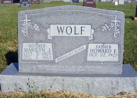 WOLF, HOWARD E. - Frontier County, Nebraska | HOWARD E. WOLF - Nebraska Gravestone Photos