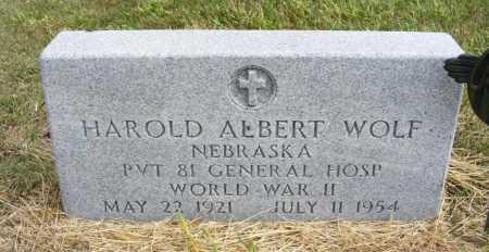 WOLF, HAROLD ALBERT - Frontier County, Nebraska | HAROLD ALBERT WOLF - Nebraska Gravestone Photos