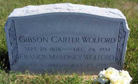 WOLFORD, GIBSON CARTER - Frontier County, Nebraska | GIBSON CARTER WOLFORD - Nebraska Gravestone Photos