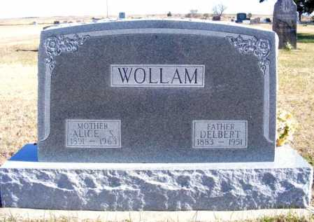 WOLLAM, ALICE S. - Frontier County, Nebraska | ALICE S. WOLLAM - Nebraska Gravestone Photos