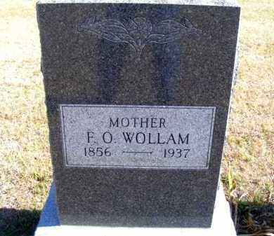 WOLLAM, F. O. - Frontier County, Nebraska | F. O. WOLLAM - Nebraska Gravestone Photos