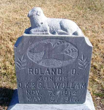 WOLLAM, ROLAND O. - Frontier County, Nebraska | ROLAND O. WOLLAM - Nebraska Gravestone Photos