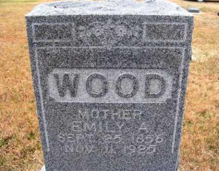 WOOD, EMILY A. - Frontier County, Nebraska | EMILY A. WOOD - Nebraska Gravestone Photos