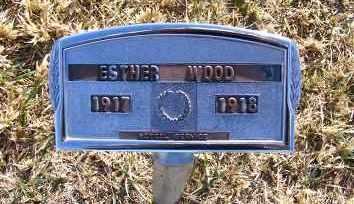 WOOD, ESTHER - Frontier County, Nebraska | ESTHER WOOD - Nebraska Gravestone Photos