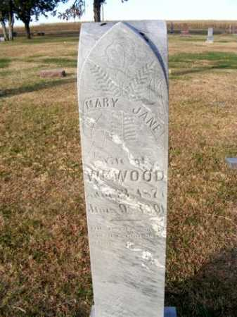 WOOD, MARY JANE - Frontier County, Nebraska | MARY JANE WOOD - Nebraska Gravestone Photos