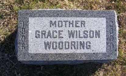 WILSON WOODRING, GRACE - Frontier County, Nebraska | GRACE WILSON WOODRING - Nebraska Gravestone Photos