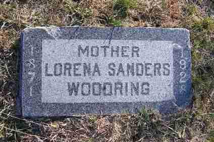 SANDERS WOODRING, LORENA - Frontier County, Nebraska | LORENA SANDERS WOODRING - Nebraska Gravestone Photos