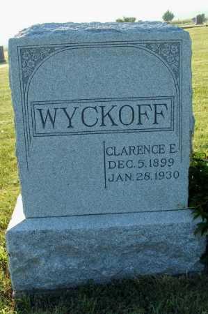 WYCKOFF, CLARENCE E. - Frontier County, Nebraska   CLARENCE E. WYCKOFF - Nebraska Gravestone Photos