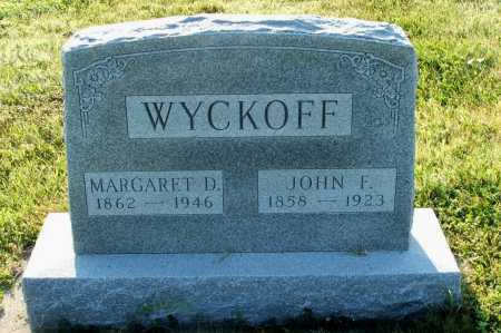 WYCKOFF, JOHN F. - Frontier County, Nebraska | JOHN F. WYCKOFF - Nebraska Gravestone Photos