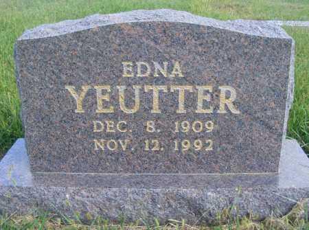 YEUTTER, EDNA - Frontier County, Nebraska | EDNA YEUTTER - Nebraska Gravestone Photos