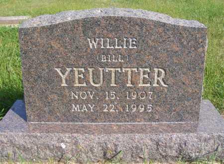 YEUTTER, WILLIE (BILL) - Frontier County, Nebraska   WILLIE (BILL) YEUTTER - Nebraska Gravestone Photos