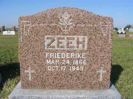 ZEEH, FRIEDERIKE - Frontier County, Nebraska   FRIEDERIKE ZEEH - Nebraska Gravestone Photos