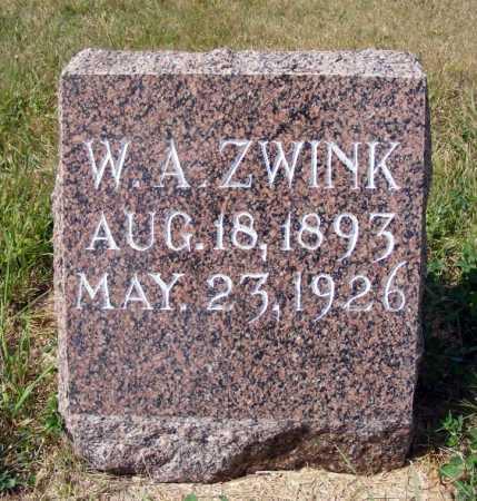 ZWINK, W.A. - Frontier County, Nebraska   W.A. ZWINK - Nebraska Gravestone Photos