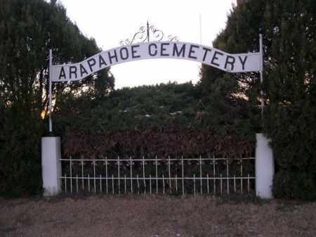 *ARAPAHOE CEMETERY, SIGN FOR - Furnas County, Nebraska   SIGN FOR *ARAPAHOE CEMETERY - Nebraska Gravestone Photos