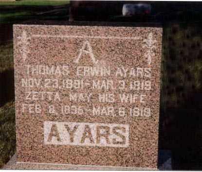 MEYERS AYARS, ZETTA - Furnas County, Nebraska | ZETTA MEYERS AYARS - Nebraska Gravestone Photos