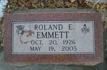 EMMETT, ROLAND E. - Furnas County, Nebraska | ROLAND E. EMMETT - Nebraska Gravestone Photos