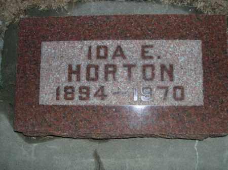 HORTON, IDA E. - Furnas County, Nebraska   IDA E. HORTON - Nebraska Gravestone Photos
