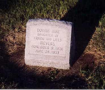 MEYERS, DONNA MAE - Furnas County, Nebraska | DONNA MAE MEYERS - Nebraska Gravestone Photos