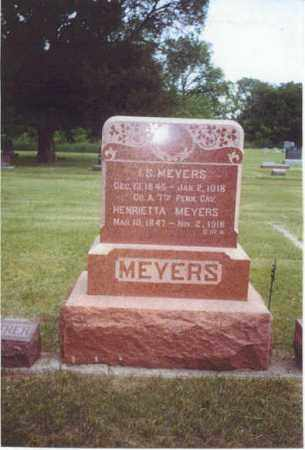 MEYERS, ISAAC S. - Furnas County, Nebraska | ISAAC S. MEYERS - Nebraska Gravestone Photos