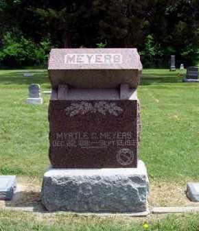 MCKOWN MEYERS, MYRTLE - Furnas County, Nebraska | MYRTLE MCKOWN MEYERS - Nebraska Gravestone Photos