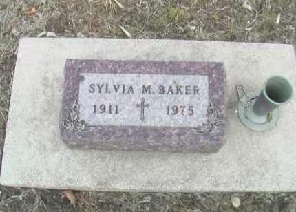BAKER, SYLVIA M. - Gage County, Nebraska | SYLVIA M. BAKER - Nebraska Gravestone Photos