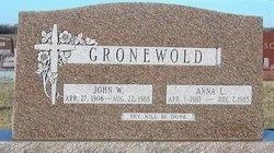 SCHUSTER GRONEWOLD, ANNA L - Gage County, Nebraska | ANNA L SCHUSTER GRONEWOLD - Nebraska Gravestone Photos
