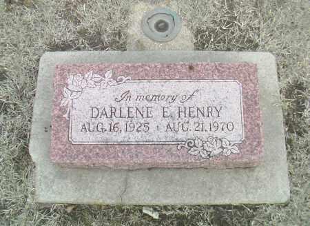 HENRY, DARLENE E. - Gage County, Nebraska   DARLENE E. HENRY - Nebraska Gravestone Photos