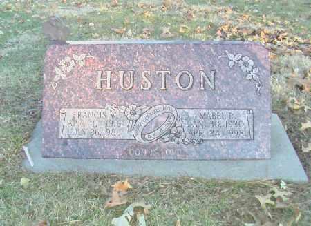 HUSTON, FRANCIS W. - Gage County, Nebraska | FRANCIS W. HUSTON - Nebraska Gravestone Photos
