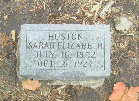 HUSTON, SARAH ELIZABETH - Gage County, Nebraska | SARAH ELIZABETH HUSTON - Nebraska Gravestone Photos