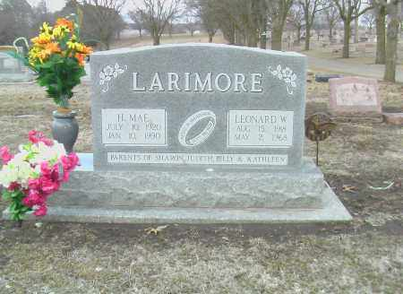 LARIMORE, H. MAE - Gage County, Nebraska | H. MAE LARIMORE - Nebraska Gravestone Photos
