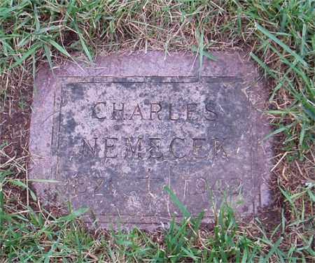 NEMECEK, CHARLES (KAREL) - Gage County, Nebraska | CHARLES (KAREL) NEMECEK - Nebraska Gravestone Photos