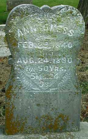 PHIPPS ONESS, ANNA - Gage County, Nebraska   ANNA PHIPPS ONESS - Nebraska Gravestone Photos