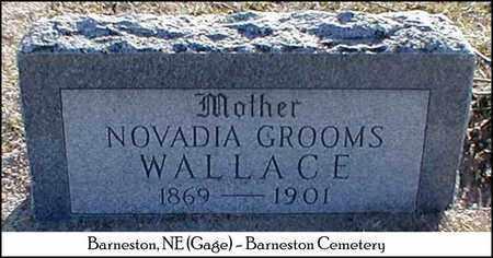 WALLACE, NOVADIA - Gage County, Nebraska | NOVADIA WALLACE - Nebraska Gravestone Photos