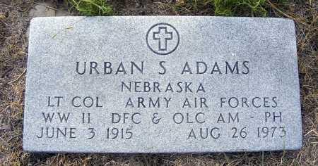 ADAMS, URBAN S. - Garden County, Nebraska | URBAN S. ADAMS - Nebraska Gravestone Photos