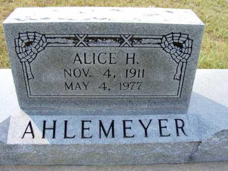 AHLEMEYER, ALICE H. - Garden County, Nebraska | ALICE H. AHLEMEYER - Nebraska Gravestone Photos