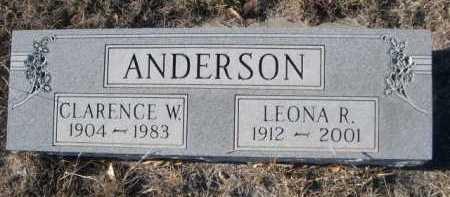 ANDERSON, CLARENCE W. - Garden County, Nebraska | CLARENCE W. ANDERSON - Nebraska Gravestone Photos