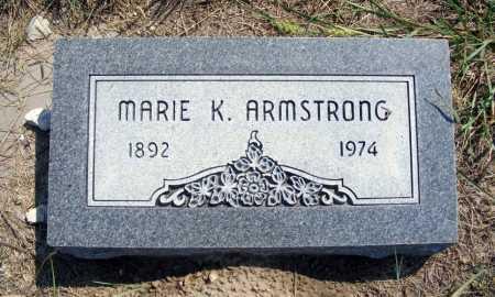 ARMSTRONG, MARIE K. - Garden County, Nebraska | MARIE K. ARMSTRONG - Nebraska Gravestone Photos